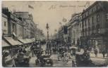 AK London Regent Street Pferdekutschen Menschen Großbritannien 1907