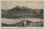 AK Thun Thunersee mit Niesen Bern Schweiz 1920