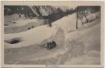 AK Klosters Serneus Schlittenfahrt im Winter Graubünden Schweiz 1920
