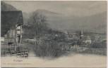 AK Frutigen Blick auf Ort mit Kirche Bern Schweiz 1910
