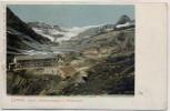 AK Gemmi Hotel Lämmergletscher und Wildstrubel bei Leukerbad Wallis Schweiz 1910