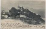 AK Flüeli bei Sachseln Ortsansicht mit Kirche Obwalden Schweiz 1902