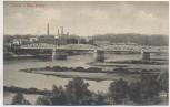 AK Cüstrin Küstrin Neue Brücke mit Fabrik Kostrzyn nad Odrą Neumark Polen 1915