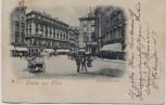 AK Gruss aus Wien Michaelerplatz mit Menschen Österreich 1899