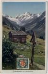 AK Lötschental mit Lötschenlücke bei Wiler (Lötschen) Wallis Schweiz 1929