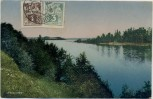 AK Eesti maastik Parikas Blick auf Fluss Estland 1926