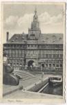 AK Emden Rathaus mit Boot Feldpost 1940
