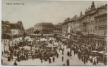 AK Foto Zagreb Jelacicev trg Marktplatz viele Menschen Kroatien 1926