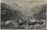 AK Franzenshöhe und Stilfserjoch mit Pferdekutsche bei Prad Südtirol Italien 1907