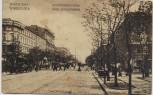 AK Warszawa Warschau Jerozolimskie-Allee Feldpost Polen 1915