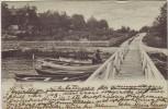 AK Djursholm Danderyd Holzsteg Boote Häuser Uppland Schweden 1902