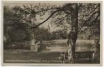 AK Foto Nordseebad Wilhelmshaven Parkanlagen Blick zur St. Willehad-Kirche 1930