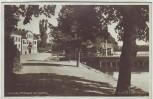 AK Foto Strängnäs Promenad och kajmotiv Södermanland Schweden 1946