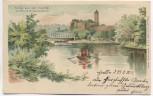 AK Partie aus dem Saaletal mit Ruine Giebichenstein b. Halle / Saale 1899