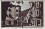 AK Foto Glurns Glorenza Ortsansicht mit Stadttor Vinschgau Südtirol Italien 1940 RAR