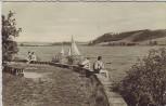 AK Foto Talsperre Pirk Menschen Boote bei Oelsnitz Vogtland 1961