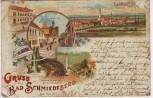 AK Litho Gruss aus Bad Schmiedeberg Autor Hotel Gasthof 1898 RAR