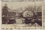 AK Halle an der Saale Steinmühle mit Booten Stempel 1904 RAR