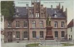 AK Neuhaldensleben Postamt und Kaiser Wilhelm Denkmal Haldensleben 1914 RAR