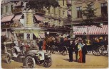 AK Berlin Unter den Linden Ausfahrt des Kaisers Oldtimer Menschen Geschäfte 1910