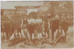 AK Foto Rengshausen Knüllwald Gruss von der Walze Bauarbeiter vor Dampfwalze Scheid Maschinenfabrik Limburg an der Lahn 1911 RAR