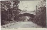 AK Hamburg St. Pauli Sylter Allee mit Brücke 1906 RAR