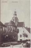 AK Kaisheim Klosterkirche mit Menschen 1912