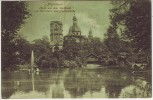AK Mannheim Partie aus dem Stadtpark mit Sternwarte und Jesuitenkirche 1906