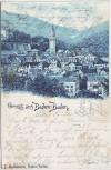 AK Gruss aus Baden-Baden Ortsansicht 1902