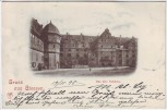 AK Gruss aus Gießen Das alte Schloß 1898