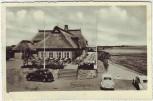 AK Stade Fährhaus Elbkate mit Autos Landpoststempel Brunshausen 1954