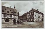 AK Foto Haslach im Kinzigtal Ortsansicht mit Brunnen und Ratsstube Schwarzwald 1935
