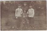 AK Foto Sennelager Gruppenfoto Soldaten Senne Paderborn 1908