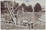 AK Foto Heilbad Heiligenstadt Schwimmbad viele Menschen Eichsfeld 1959