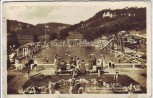 AK Foto Streitberg Schwimmbad viele Menschen bei Wiesenttal Fränk. Schweiz 1935