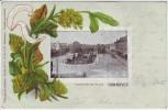 AK Passepartout Duftende Grüsse aus Hannover Herrenhäuser Allee 1903