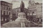 AK Graudenz Grudziądz Kaiser Wilhelm-Denkmal mit Geschäften Westpreußen Polen Feldpost 1915