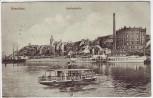 AK Graudenz Grudziądz Weichselseite Fabrik Schiffe Westpreußen Polen Feldpost 1915