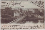 AK Saalfeld in Thüringen Ortsansicht mit Brücke 1905