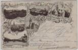 AK Mehrbild Gruss aus Zeitz Post Kirche Altmarkt ... 1896 RAR