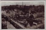 AK Foto Kiel Hafen mit Blücher-Brücke viele Schiffe 1935