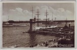 AK Foto Kiel Signalturm mit Hafen und Blücherbrücke Schiffe 1935