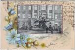 AK Passepartout Berlin Mitte Begasbrunnen mit Menschen 1899