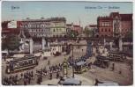 AK Berlin Kreuzberg Hallesches Tor Hochbahn Soldaten Straßenbahn 1912