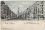 AK Gruss aus Berlin Charlottenburg Kurfürstendamm mit Kaiser Wilhelm-Gedächtniskirche 1899