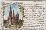 AK Litho Gruss aus Berlin Charlottenburg Kaiser Wilhelm Gedächtniskirche 1904