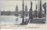 AK Gruss aus Berlin Kreuzberg Friedrichshain Oberbaumbrücke 1901