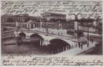 AK Berlin Mitte National-Gallerie und Friedrichsbrücke 1904