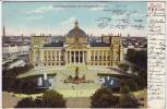 AK Berlin Mitte Reichstagsgebäude mit Bismarck-Denkmal 1904