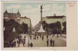 AK Gruss aus Berlin Kreuzberg Belle-Alliance-Platz mit Menschen 1910